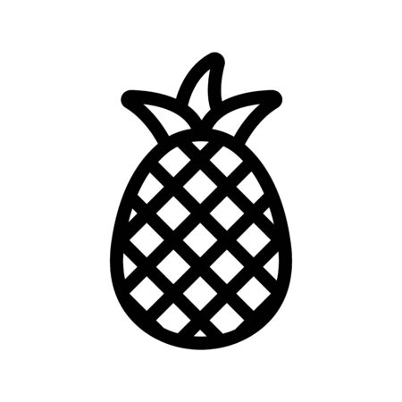 pineapple icon vector. A thin line sign. Isolated contour symbol illustration Ilustração