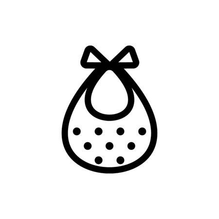 Children handkerchief icon vector. A thin line sign. Isolated contour symbol illustration