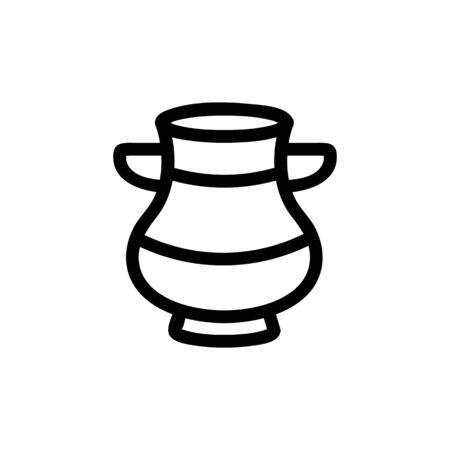 Historic vase icon vector. A thin line sign. Isolated contour symbol illustration Archivio Fotografico - 137057055