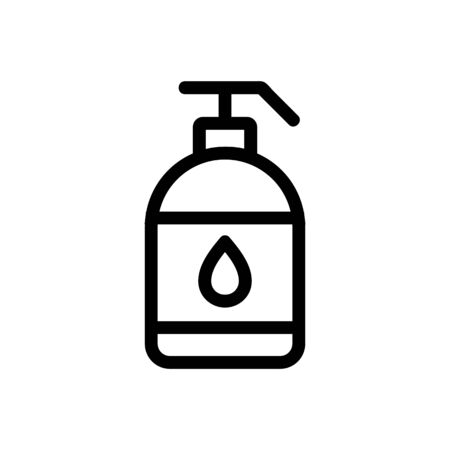 Lubricantt icon vector. A thin line sign. Isolated contour symbol illustration