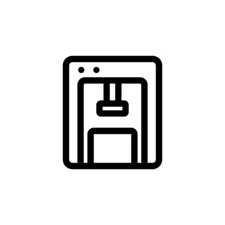 press icon vector. A thin line sign. Isolated contour symbol illustration