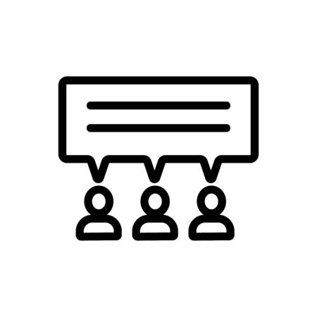 unanimous opinion icon vector. A thin line sign. Isolated contour symbol illustration