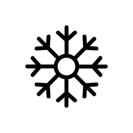 New Year Snowflake icon vector. A thin line sign. Isolated contour symbol illustration