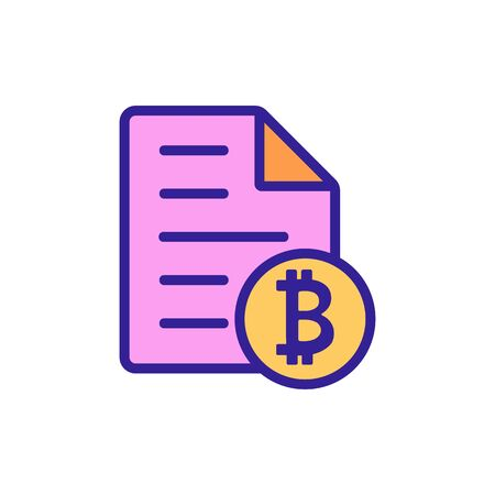 The rise of bitcoin icon vector. A thin line sign. Isolated contour symbol illustration Ilustração