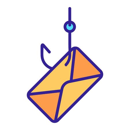 phishing mail icon vector. A thin line sign. Isolated contour symbol illustration