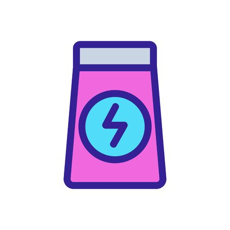 Energy food icon vector. Thin line sign. Isolated contour symbol illustration