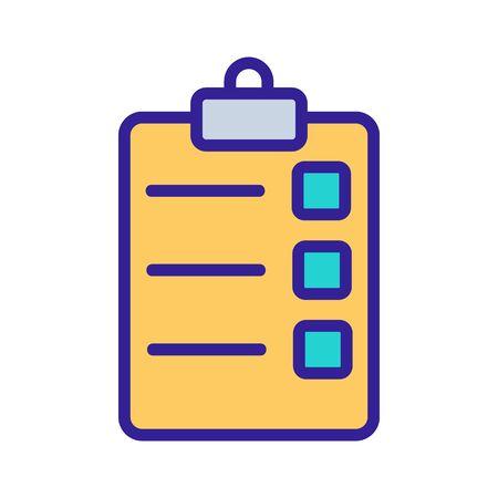 La liste des tâches icône vecteur. Signe de ligne mince. Illustration de symbole de contour isolé