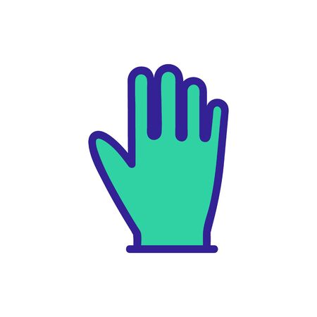 Rubber glove icon vector. Thin line sign. Isolated contour symbol illustration