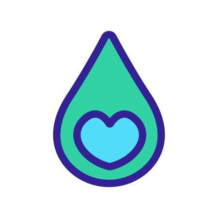Favorite liquid icon is the vector. Thin line sign. Isolated contour symbol illustration