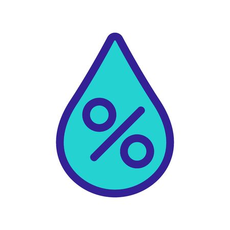 Percentage of liquid icon vector. Thin line sign. Isolated contour symbol illustration Illustration