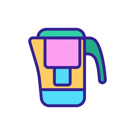 Home water filter icon vector. Thin line sign. Isolated contour symbol illustration