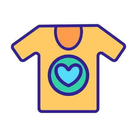 Clothes volunteer icon vector. Thin line sign. Isolated contour symbol illustration