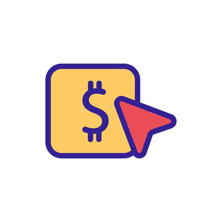 donate money to the icon vector. Thin line sign. Isolated contour symbol illustration