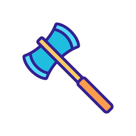 axe warrior icon vector. Thin line sign. Isolated contour symbol illustration Vectores