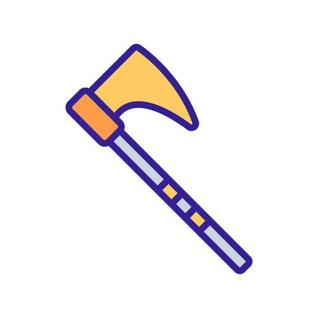 Big axe icon vector. Thin line sign. Isolated contour symbol illustration