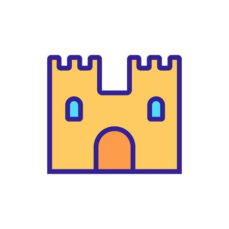 Castle fortress is an icon vector. Thin line sign. Isolated contour symbol illustration