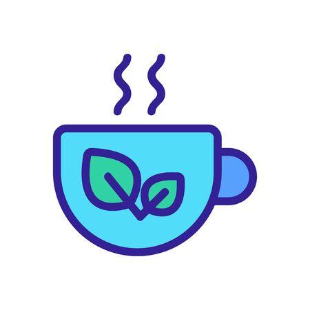Tea in a mug icon vector. Thin line sign. Isolated contour symbol illustration Illusztráció
