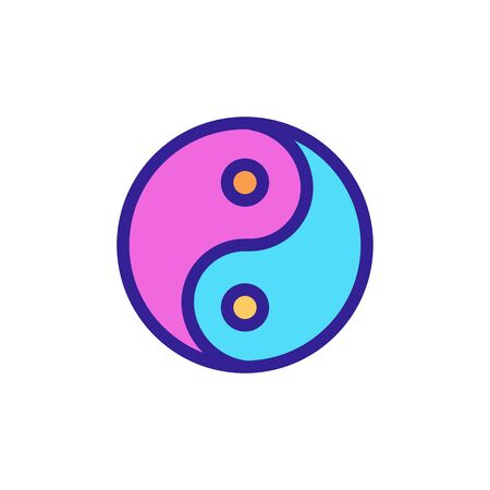 Yin yang icon vector. Thin line sign. Isolated contour symbol illustration