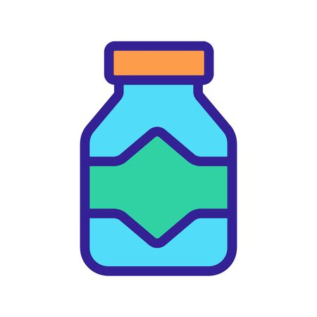 bottle with tablets icon vector. Thin line sign. Isolated contour symbol illustration