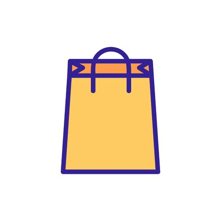 paper pack icon vector. Thin line sign. Isolated contour symbol illustration
