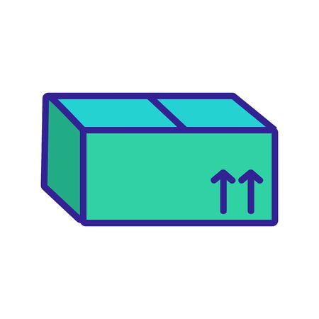 Box parcel icon vector. Thin line sign. Isolated contour symbol illustration Vektoros illusztráció