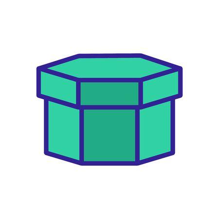 Big box icon vector. Thin line sign. Isolated contour symbol illustration