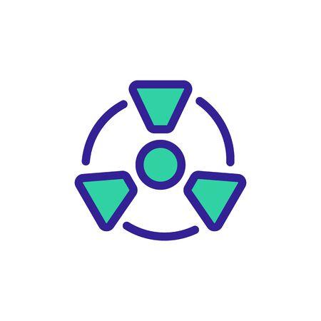 radiation hazard icon vector. Thin line sign. Isolated contour symbol illustration Vector Illustration