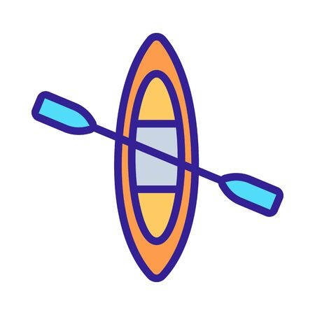 canoe icon vector. Thin line sign. Isolated contour symbol illustration