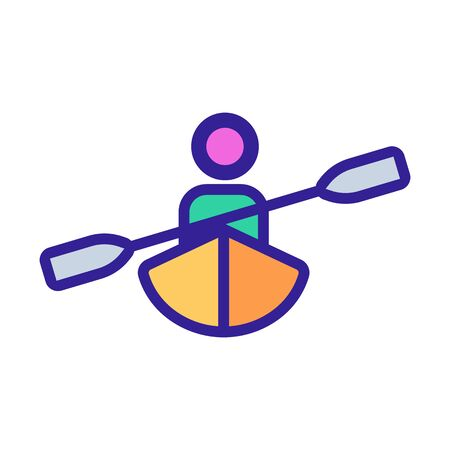 kayak and human icon vector. Thin line sign. Isolated contour symbol illustration