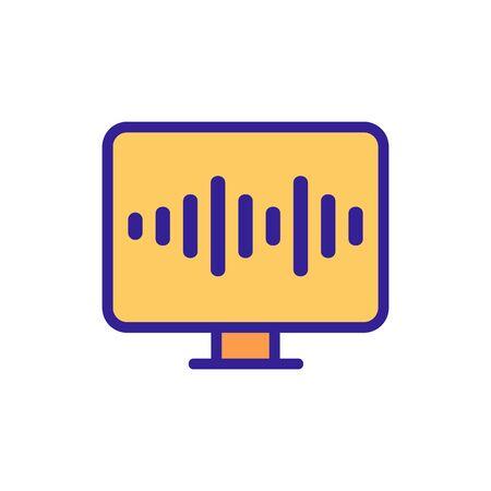 voice control icon vector. Thin line sign. Isolated contour symbol illustration Ilustração