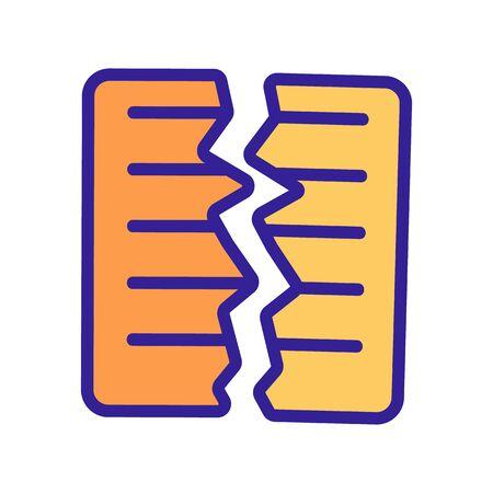 torn document icon vector. Thin line sign. Isolated contour symbol illustration Ilustração