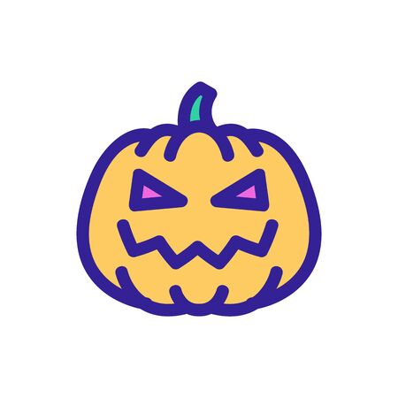 Pumpkin with an eye icon vector. A thin line sign. Isolated contour symbol illustration Ilustrace