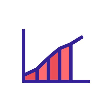 graph to increase the vector icon s performance. A thin line sign. Isolated contour symbol illustration
