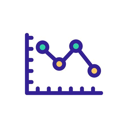 graph icon vector. A thin line sign. Isolated contour symbol illustration
