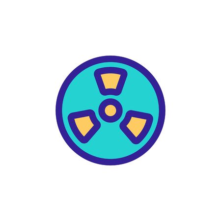 Radiation icon vector. A thin line sign. Isolated contour symbol illustration
