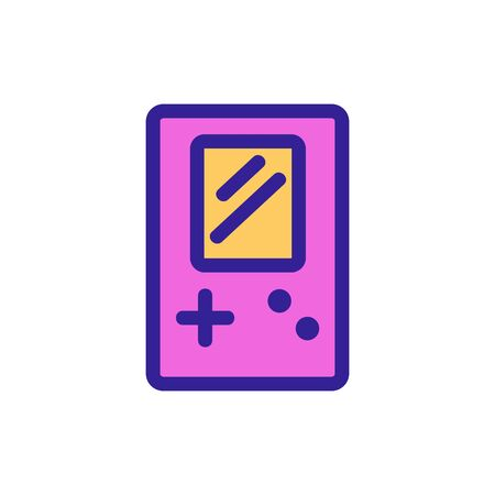 Tetris icon vector. A thin line sign. Isolated contour symbol illustration