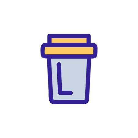 coffee in a cup icon vector. A thin line sign. Isolated contour symbol illustration