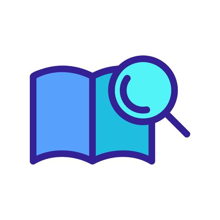 Search for a book icon vector. A thin line sign. Isolated contour symbol illustration