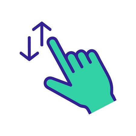 control en el vector de icono de pantalla táctil. Un letrero de línea fina. Ilustración de símbolo de contorno aislado
