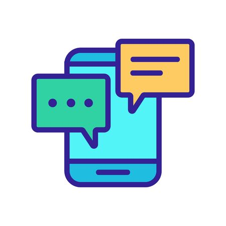 incoming alerts and messages on the phone icon vector. A thin line sign. Isolated contour symbol illustration