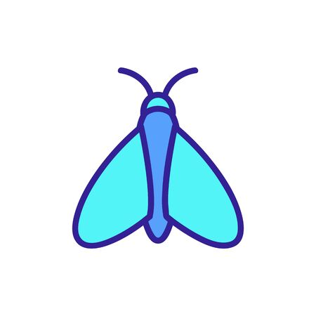 Moth icon vector. A thin line sign. Isolated contour symbol illustration