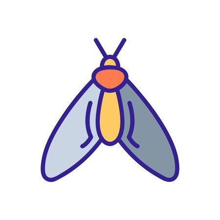 mole icon vector. A thin line sign. Isolated contour symbol illustration