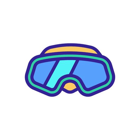 Glasses for immersion under the water icon vector. A thin line sign. Isolated contour symbol illustration