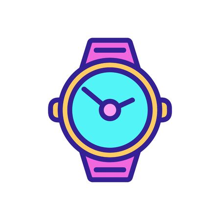 underwater clock icon vector. A thin line sign. Isolated contour symbol illustration