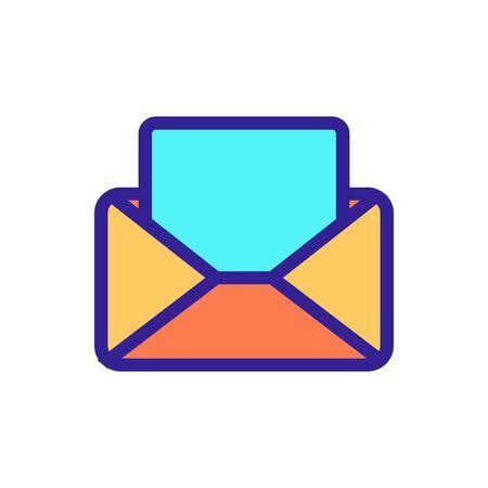 lire le vecteur d'icône de lettre. Un signe de ligne mince. Illustration de symbole de contour isolé Vecteurs