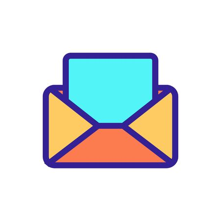 read the letter icon vector. A thin line sign. Isolated contour symbol illustration Vetores