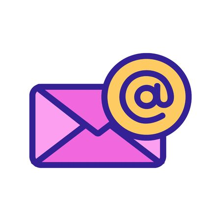 Email icon vector. A thin line sign. Isolated contour symbol illustration