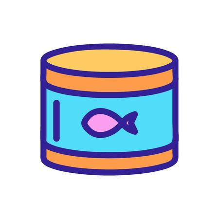 canned tuna vector icon. A thin line sign. Isolated contour symbol illustration Vettoriali