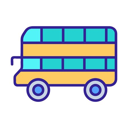 Double-decker bus icon vector. A thin line sign. Isolated contour symbol illustration