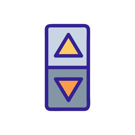 The elevator button is an icon vector icon. A thin line sign. Isolated contour symbol illustration